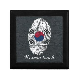Korean touch fingerprint flag gift box
