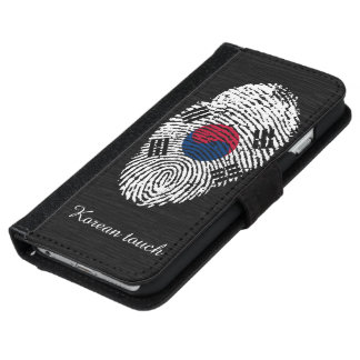 Korean touch fingerprint flag iPhone 6 wallet case