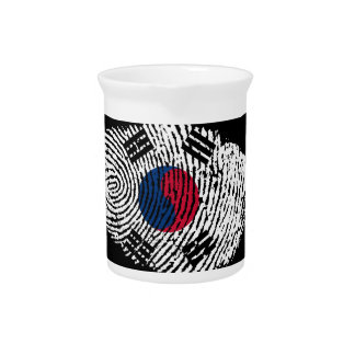 Korean touch fingerprint flag pitcher
