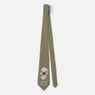 Korean touch fingerprint flag tie