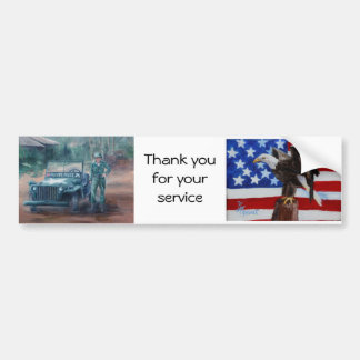 Korean War Hero Bumper Sticker