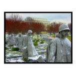 korean war memorial border post cards