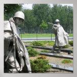 Korean War Memorial in Washington D.C. Poster