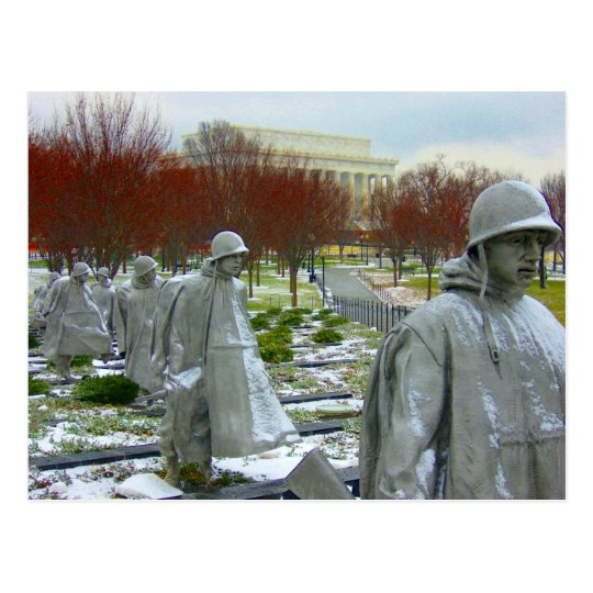 korean war memorial postcard