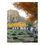 Korean War Memorial veterans Post Cards