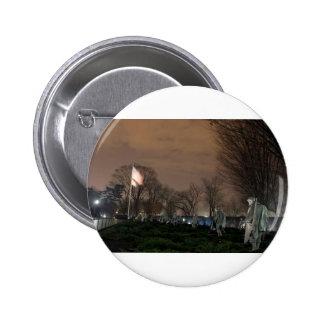 Korean War Memorial Washington Monument night 6 Cm Round Badge