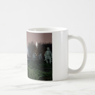 Korean War Memorial Washington Monument night Coffee Mug