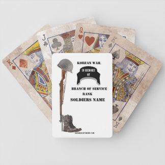 KOREAN WAR MEMORIUM BICYCLE PLAYING CARDS