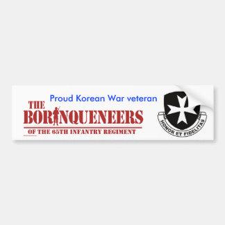 Korean War veteran - Bumper Sticker