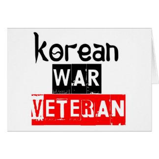 korean war veteran card