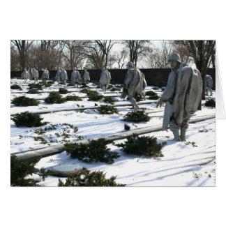 Korean War Veterans Memorial snow Card