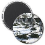 Korean War Veterans Memorial snow Magnet