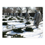Korean War Veterans Memorial snow Postcard
