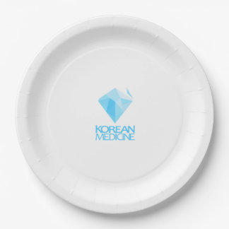 koreanmedicine logo 9 inch paper plate