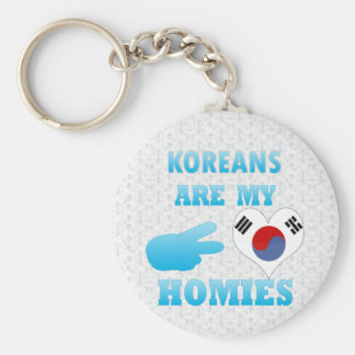 Koreans are my Homies Basic Round Button Key Ring