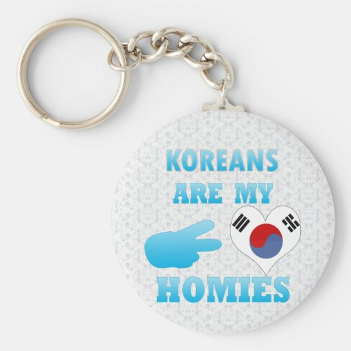 Koreans are my Homies Key Chain