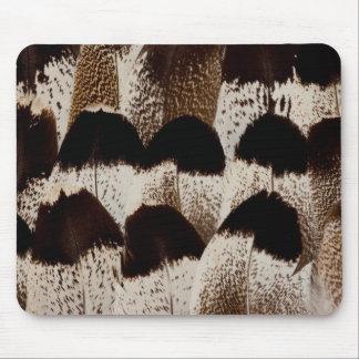 Kori Bustard feather design Mouse Mat