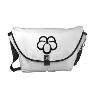 Korin-style shadowed ivy messenger bags