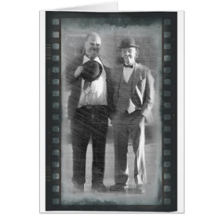 Kornberg & Druwing as Laurel & Hardy card