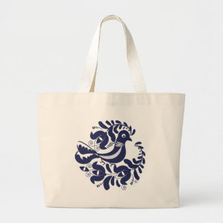 Korondi folk motif large tote bag