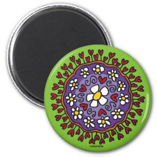 Korrontxo Flores 6 Cm Round Magnet
