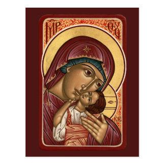 Korsun Mother of God Prayer Card Postcard