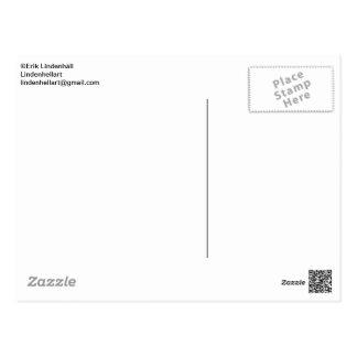 Kort med röd ros vykort
