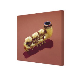 Korvack pipe with carved Polar Bears Canvas Print