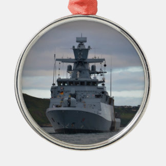 Korvette Braunschweig Anchored in Plymouth Christmas Ornament