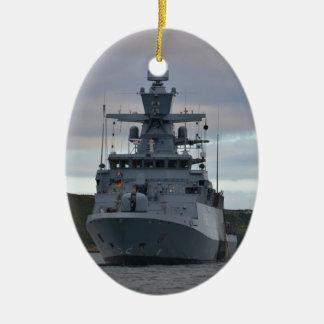 Korvette Braunschweig Anchored in Plymouth Christmas Ornament