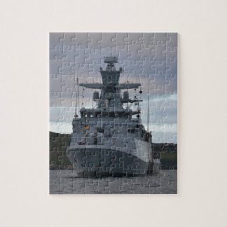 Korvette Braunschweig Anchored in Plymouth Jigsaw Puzzle