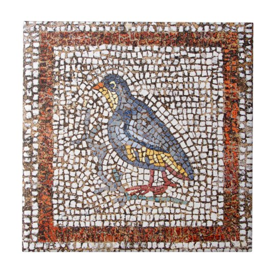 Kos Bird Mosaic Ceramic Trivet Tile