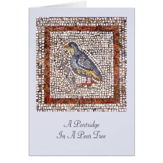 Kos Bird Mosaic Christmas Greeting Card
