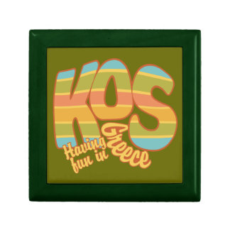 KOS Greece custom gift / jewelry box