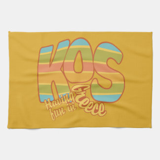 KOS Greece custom kitchen towels