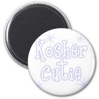 kosher cutie blue 6 cm round magnet