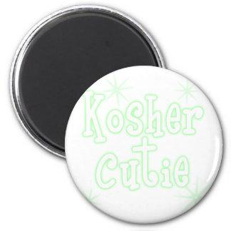 kosher cutie green 6 cm round magnet