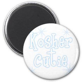kosher cutie lt blue 6 cm round magnet