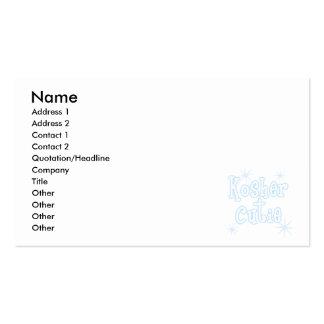 kosher cutie lt blue business card templates