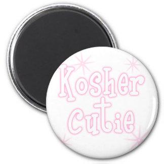 kosher cutie pink 6 cm round magnet