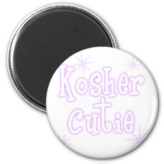 kosher cutie -purple 6 cm round magnet