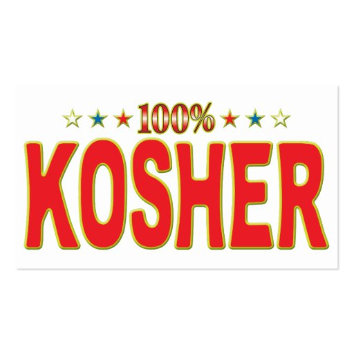 Kosher Star Tag Business Card