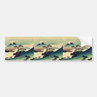 Koshu inume toge by Katsushika, Hokusai Ukiyoe Bumper Stickers