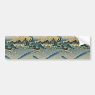 Koshu misaka suimen by Katsushika, Hokusai Ukiyoe Bumper Sticker