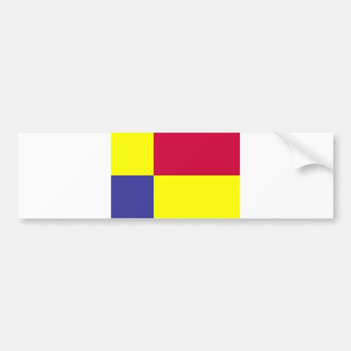 Kosicky Slovakia region county flag Bumper Sticker