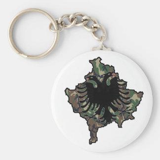 Kosovo Army key supporter Basic Round Button Key Ring