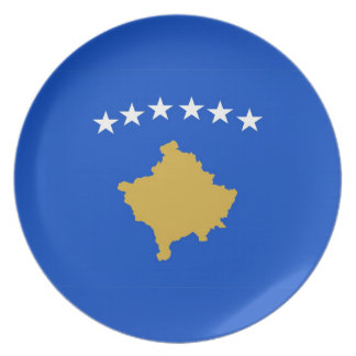 kosovo country flag plate