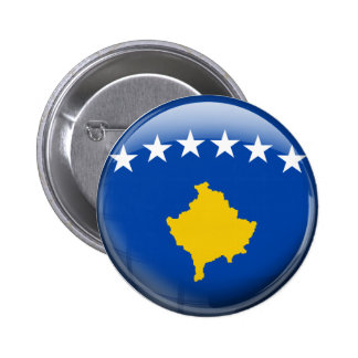 Kosovo Flag 6 Cm Round Badge
