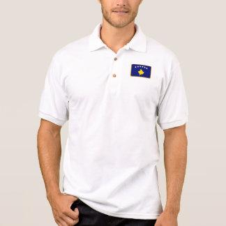Kosovo flag golf polo