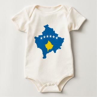 Kosovo flag map baby bodysuit